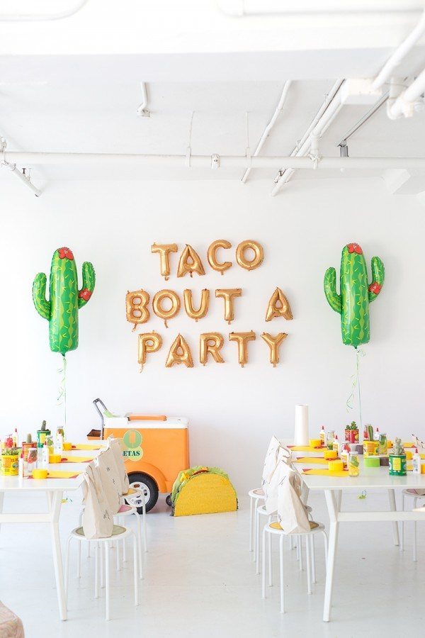 Taco themed party by studio diy