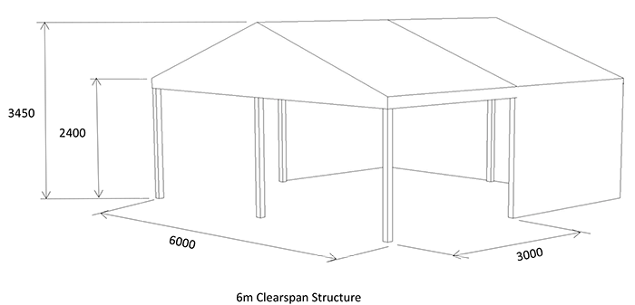 6m adjustable marquee diagram