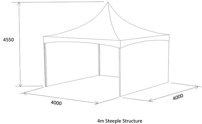 4m open-air marquee diagram