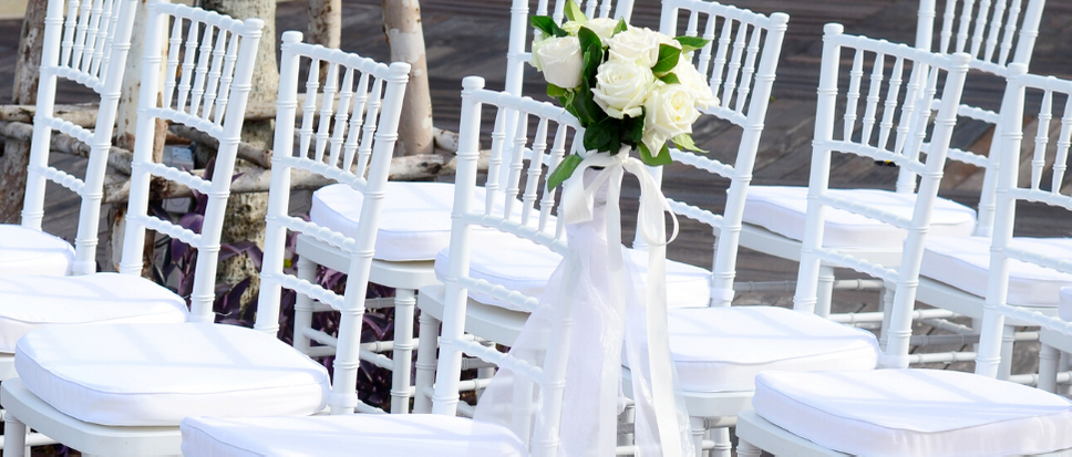 wedding chars from event hire company Pillingers