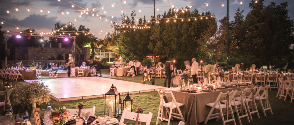 dance floor hire at wedding in sydney