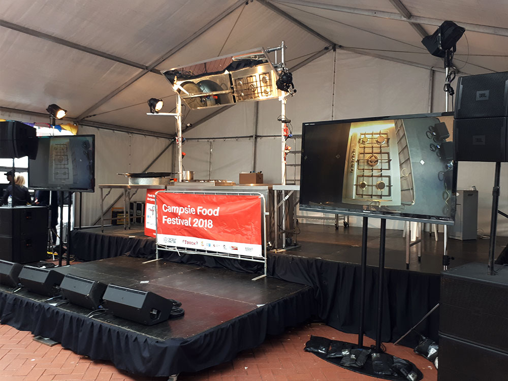 Demonstration Kitchen Set Up