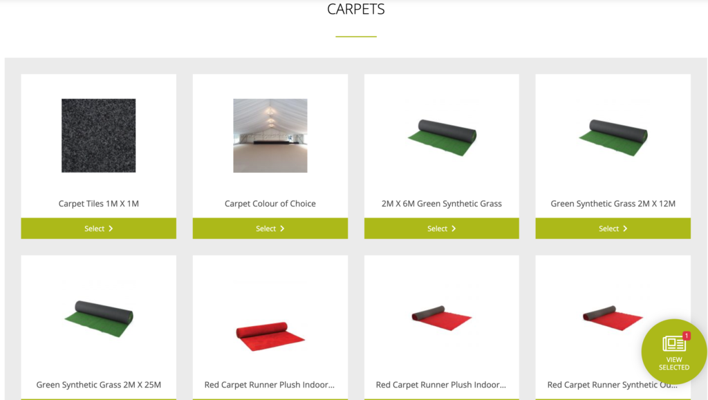 Carpets for hire in our catalogue